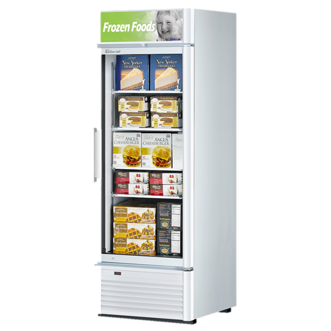 "superior-equipment-supply - Turbo Air - Turbo Air 27"" Wide One-Section Super Deluxe Glass Freezer Merchandiser"