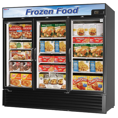 "superior-equipment-supply - Turbo Air - Turbo Air 81.88"" Wide Three-Section Freezer Merchandiser"