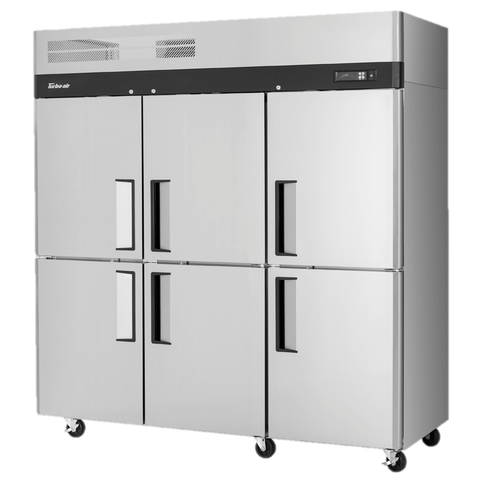 "superior-equipment-supply - Turbo Air - Turbo Air 77.75"" Wide Three-Section Stainless Steel Reach-In Freezer"