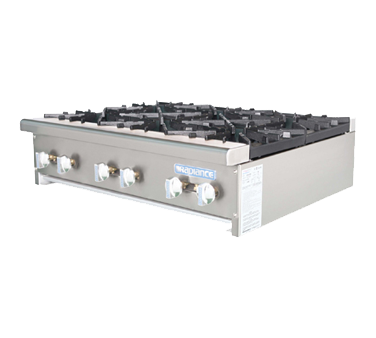 Turbo Air Six-Burner Stainless Steel Countertop Hotplate