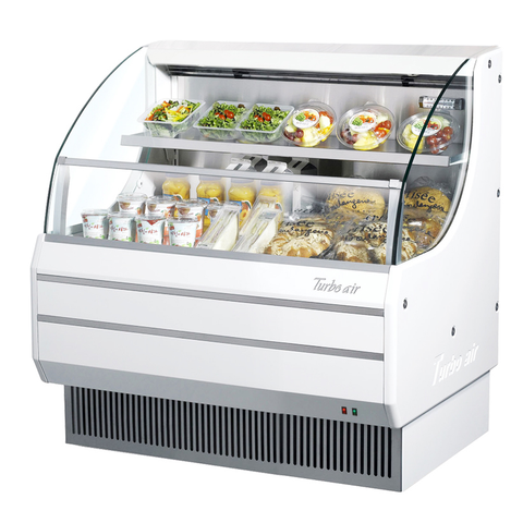 Turbo Air 7.4 Cubic Feet White Horizontal Open Merchandiser