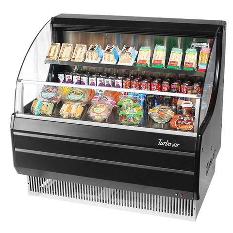 Turbo Air 7.4 Cubic Feet Black Exterior Open Merchandiser