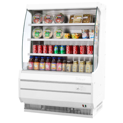superior-equipment-supply - Turbo Air - Turbo Air 8.3 Cubic Feet White Vertical Open Merchandiser