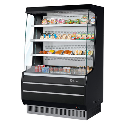 Turbo Air 8.3 Cubic Feet Black Vertical Open Merchandiser