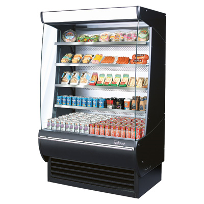superior-equipment-supply - Turbo Air - Turbo Air 14.9 Cubic Feet Extra Deep Black Open Merchandiser