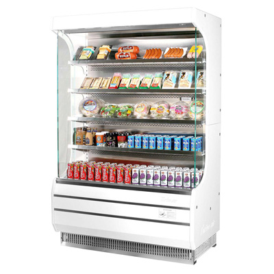 superior-equipment-supply - Turbo Air - Turbo Air 16.5 Cubic Feet White Vertical Open Merchandiser