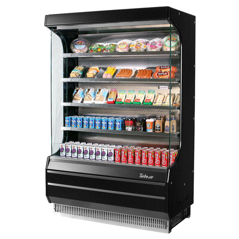 superior-equipment-supply - Turbo Air - Turbo Air 16.5 Cubic Feet Black Vertical Open Merchandiser