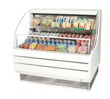 Turbo Air 9.81 Cubic Feet White Open Merchandiser