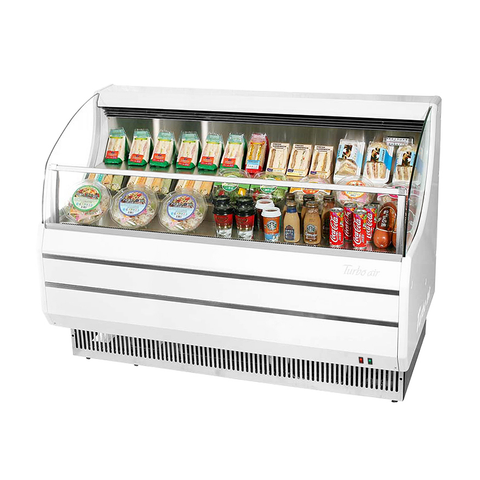 Turbo Air 8.9 Cubic Feet White Horizontal Open Merchandiser