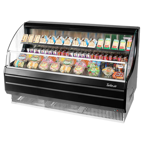 Turbo Air 12.3 Cubic Feet Black Open Merchandiser