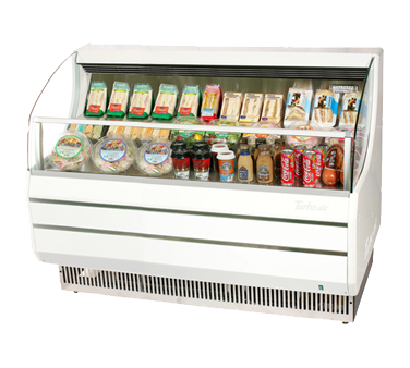 Turbo Air 11.2 Cubic Feet White Open Merchandiser