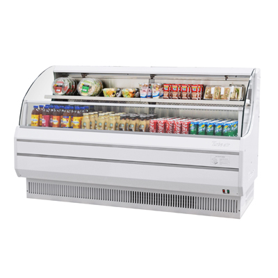 Turbo Air 14.8 Cubic Feet White Open Merchandiser