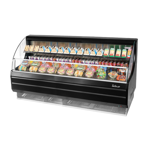 Turbo Air 14.8 Cubic Feet Black Open Merchandiser