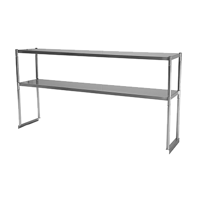 "Turbo Air 48"" Wide Stainless Steel Overshelf-Double"