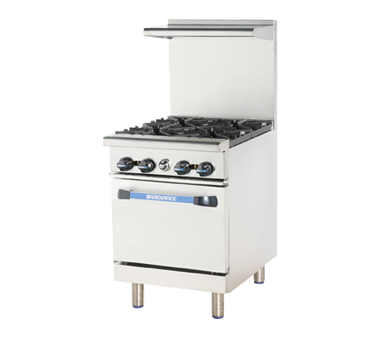 "superior-equipment-supply - Turbo Air - Turbo Air 24"" Wide Four-Burner Stainless Steel Restaurant Range"