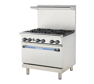 "superior-equipment-supply - Turbo Air - Turbo Air 36"" Wide Six-Burner Stainless Steel Restaurant Range"