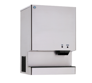 Hoshizaki Cubelet-Style Ice Maker/Water Dispenser Push Button Operation 801 lb. Production Capacity