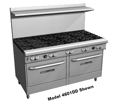 "superior-equipment-supply - Southbend - Southbend Stainless Steel 60"" Two Burner Ultimate Restaurant Range With 48"" Griddle"