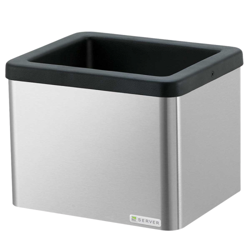 "Server Low Profile Mini Cold Station Base 5.5""H x 18.19""W x 8.38""D Silver Stainless Steel With Insulated Station"
