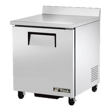 "superior-equipment-supply - True Food Service Equipment - True Stainless Steel One Section 27"" Wide Work Top Freezer"