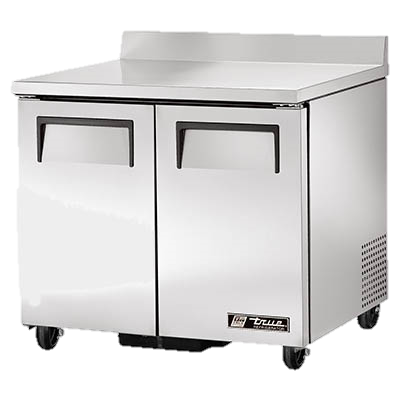"superior-equipment-supply - True Food Service Equipment - True Stainless Steel Two Section 36"" Wide Work Top Refrigerator"