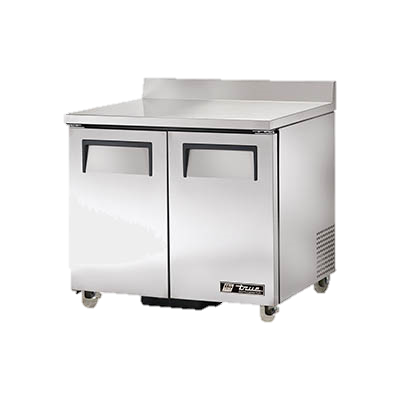 "superior-equipment-supply - True Food Service Equipment - True Stainless Steel Two Section 36"" Wide ADA Work Top Refrigerator"