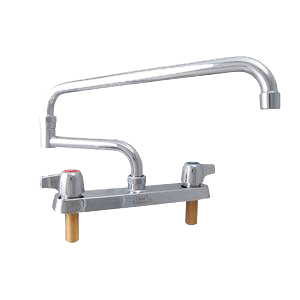 "superior-equipment-supply - BK Resources - BK Resources Standard Duty Faucet Chrome Finish 18"" Double-Jointed Swing Spout"