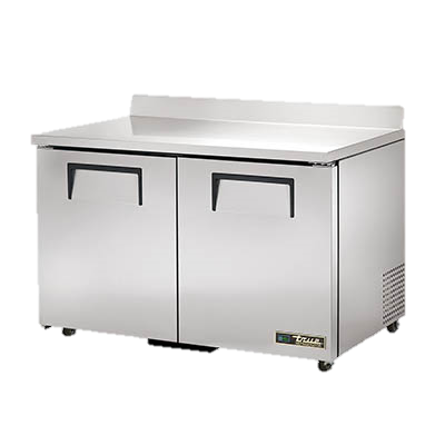 True Two Section Stainless Steel Work Top Refrigerator