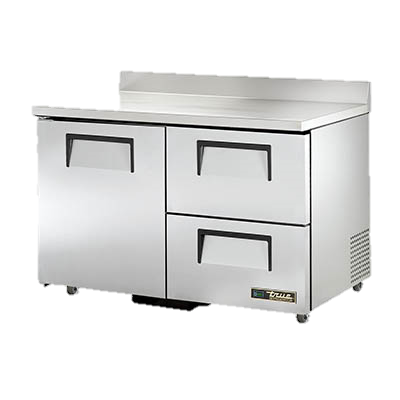 "superior-equipment-supply - True Food Service Equipment - True Stainless Steel Two Section Two Drawer 48"" Wide ADA Work Top Refrigerator"