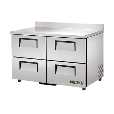 "superior-equipment-supply - True Food Service Equipment - True Stainless Steel Two Section Four Drawer 48"" Wide ADA Work Top Refrigerator"