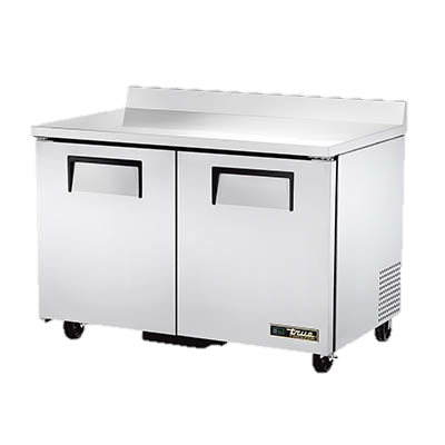 "superior-equipment-supply - True Food Service Equipment - True Stainless Steel Two Section 48"" Wide Work Top Freezer"