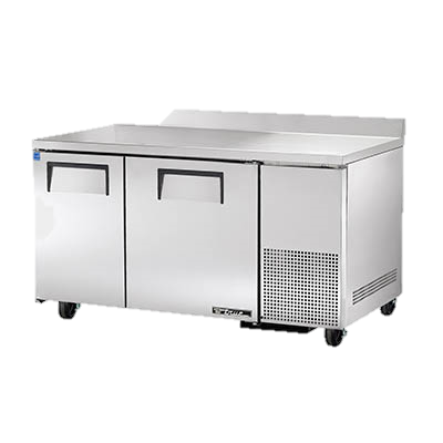 "superior-equipment-supply - True Food Service Equipment - True Stainless Steel 60"" Wide Two Section Deep Work Top Refrigerator"