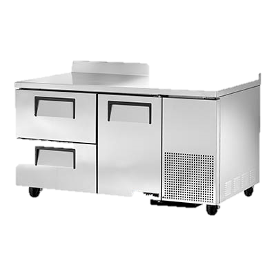 "superior-equipment-supply - True Food Service Equipment - True Stainless Steel 60"" Wide Two Section Two Drawer Deep Work Top Refrigerator"