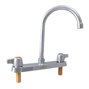 "superior-equipment-supply - BK Resources - BK Resources Deck Mount Standard Duty Faucet Chrome Finish 3"" Gooseneck Spout"