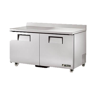 "superior-equipment-supply - True Food Service Equipment - True Stainless Steel Two Section 60"" Wide Compliant Work Top Refrigerator"