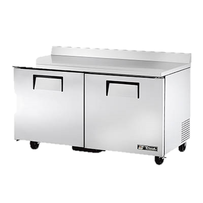 "superior-equipment-supply - True Food Service Equipment - True Stainless Steel Two Section 60"" Wide Work Top Freezer"