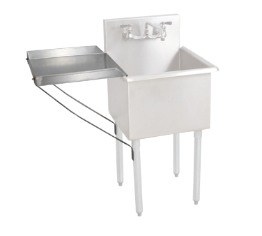 "superior-equipment-supply - BK Resources - BK Resources Stainless Steel Detachable Drainboard 18""W x 18""D"