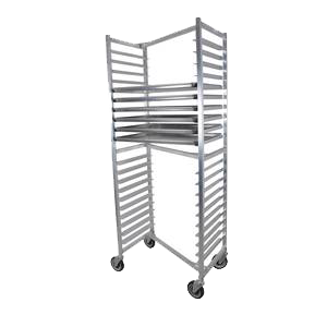 "BK Resources Full Height Nesting Bun Pan Rack Side Load 20-1/4"" Wide"