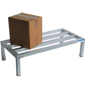 "BK Resources Dunnage Rack 1-Tier Welded Aluminum Construction 60""W x 24""D"