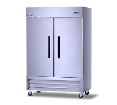 superior-equipment-supply - Arctic Air - Arctic Air Freezer Reach In, Two-Section, 49.0 Cubic Feet Capacity, Stainless Steel Exterior