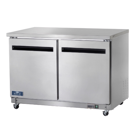 "Arctic Air Freezer Work Top Counter Reach-In Two Section 48""W White Epoxy Coated Steel"