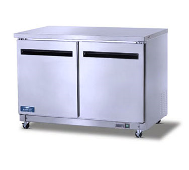 superior-equipment-supply - Arctic Air - Arctic Air Undercounter Refrigerator Reach-In, Two-Section, 12.0 Cubic Feet Capacity, Stainless Steel Exterior