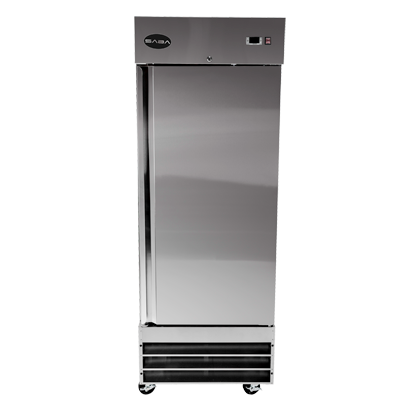 "SABA Stainless Steel One Section Solid Door 29"" Reach-In Refrigerator"