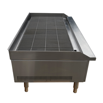 "SABA Stainless Steel 48"" Wide Countertop Gas Radiant Charbroiler"
