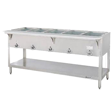 "superior-equipment-supply - Duke Manufacturing - Duke Stainless Steel Electric Hot Food Station With Five 12"" X 20"" Wells"