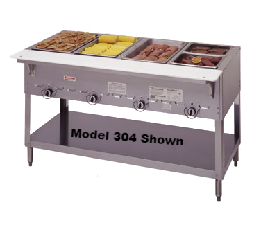 "superior-equipment-supply - Duke Manufacturing - Duke Stainless Steel 72"" Long Five Well Gas Steamtable Hot Food Unit"