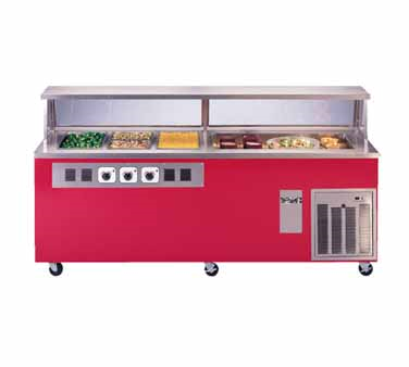 Piper Products Three Hot & Three Cold Electric Reflections Serving Counter