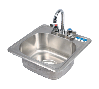 "superior-equipment-supply - BK Resources - BK Resources Stainless Steel One Compartment 12"" Wide Drop In Sink With 4"" Deck Mount Faucet"
