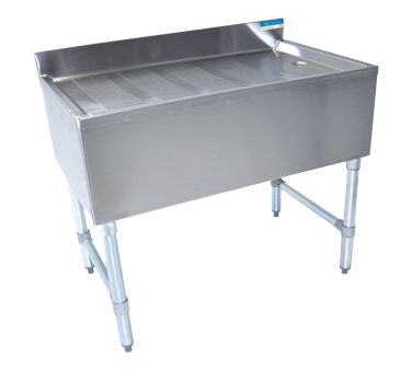 "superior-equipment-supply - BK Resources - BK Resources Stainless Steel 18"" Wide Stamped Underbar Drain Board"