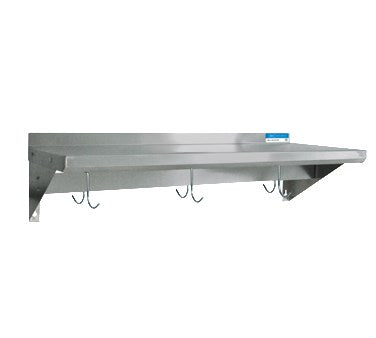 "superior-equipment-supply - BK Resources - BK Resources Overshelf Wall Wount With Pot Rack, 60""W x 12""D, Stainless Steel"